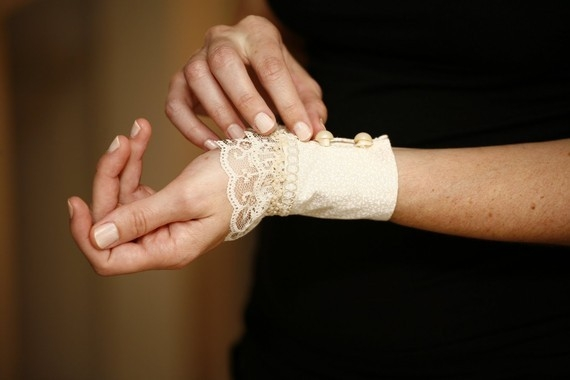 Avant Garde Ivory Cream Lace Cuff Bracelet Vintage style Jewelry Wedding accessories French chic Bri