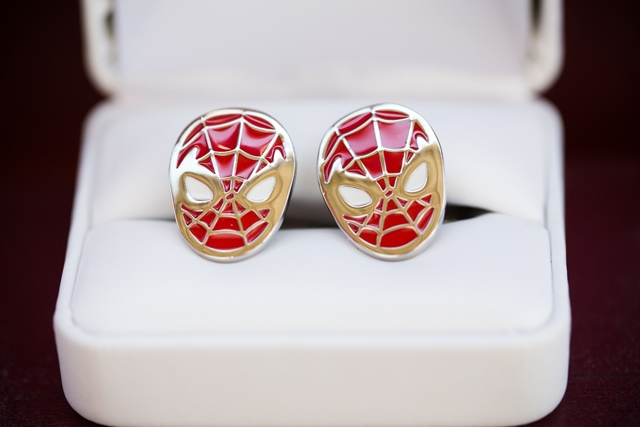 A Super Wedding | Photography by Brea, Photo by Photography by Brea , spiderman cuff links